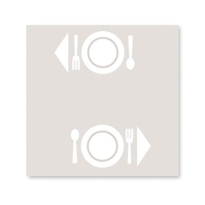 BulkySoft® tovaglia excellence 100x100 bianco
