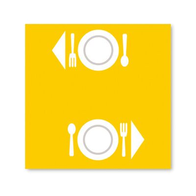 BulkySoft® place mats excellence 100x100 yellow