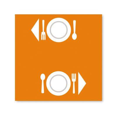 BulkySoft® tovaglia excellence 100x100 arancio