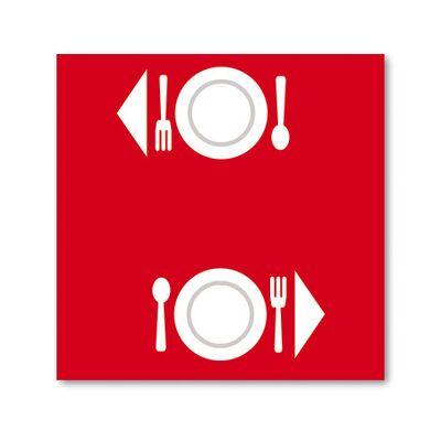 BulkySoft® tovaglia excellence 100x100 rosso