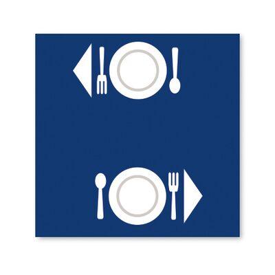 BulkySoft® tovaglia excellence 100x100 blu